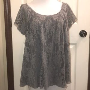 Umgee Lace Overlay Top